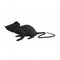 RAT PLASTIQUE NOIR 17 CM