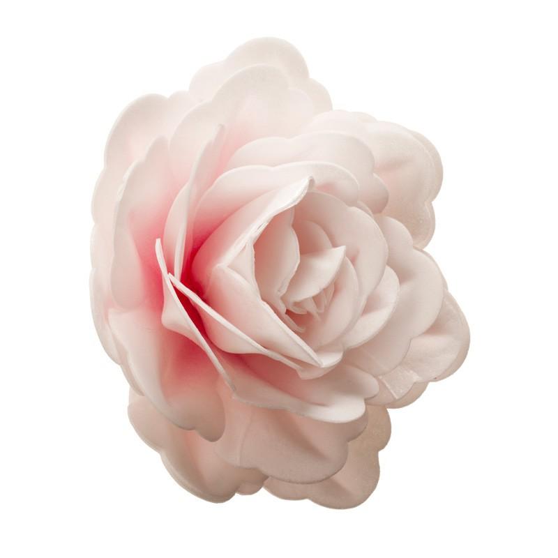 ROSE COMESTIBLE EN AZYME 12,5 CM