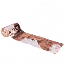 RUBAN DE TABLE SEQUIN REVERSIBLE ROSE GOLD 12CMX3M