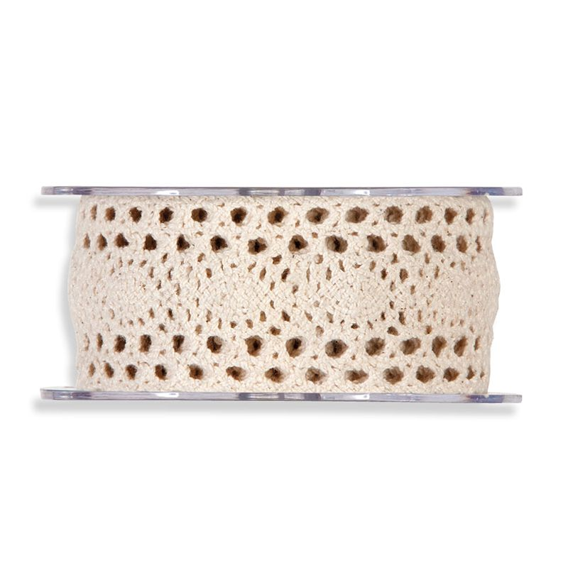 RUBAN DENTELLE NATUREL 40MMX5M