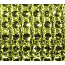 RUBAN DIAMANTS VERT LIME 11,5CMX1,80M