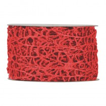 RUBAN OCEANIA ROUGE 40 MM X 10