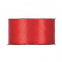 RUBAN SATIN DOUBLE FACE 40MMX25M ROUGE