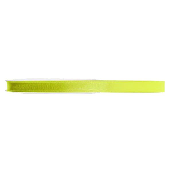 RUBAN SATIN DOUBLE FACE 6MM - JAUNE
