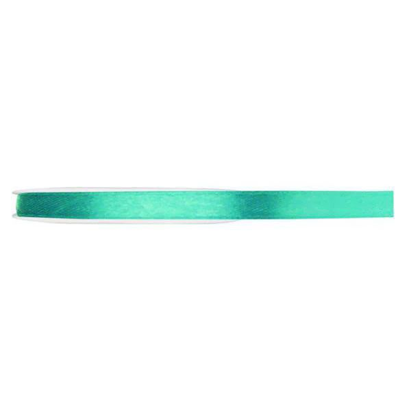 RUBAN SATIN DOUBLE FACE 6MM - TURQUOISE