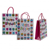 SAC CADEAU HAPPY BIRTHDAY 18X8X23 CM