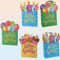 SAC CADEAU HAPPY BIRTHDAY 26X32 CM