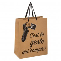 SAC CADEAU KRAFT IMPRESSION FUN 26X12.7X32.4CM
