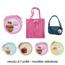SAC SHOPPING PLIABLE GOURMANDISE - 4 ASS