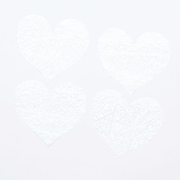 confettis coeurs blanc papier déco
