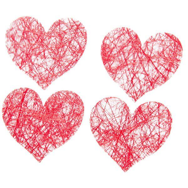confettis coeur à lancer déco