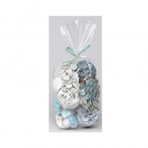 Sachet pot pourri nature bleu