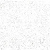 SERVIETTES 33CM ÉLÉGANCE - BLANC