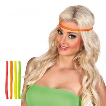 SET DE 4 BANDEAUX FLUO ADULTE