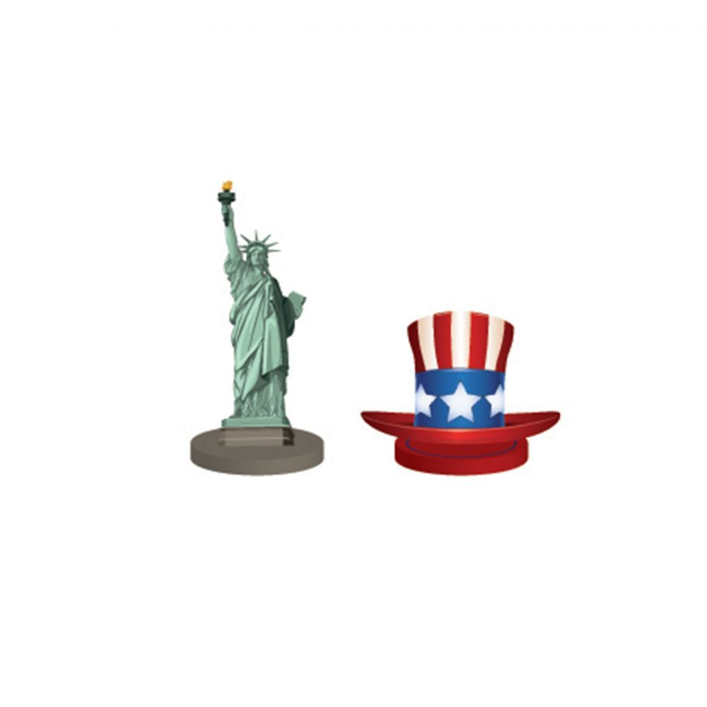 SET DE 4 MARQUE PLACES USA 6 X 4,5 CM