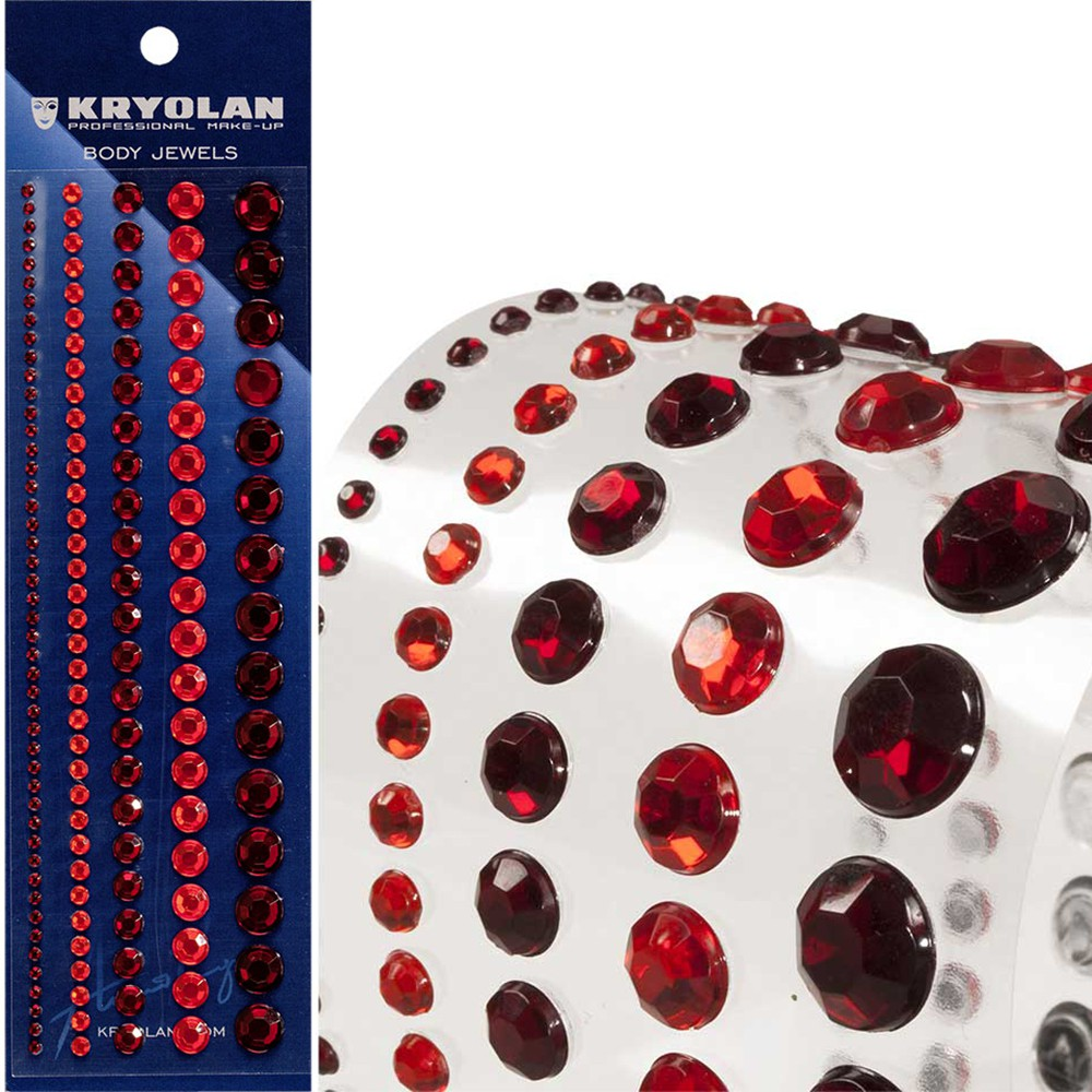 STRASS AUTOCOLLANTS TAILLES ASSORTIES ROUGE