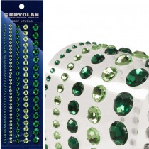 STRASS AUTOCOLLANTS TAILLES ASSORTIES VERT
