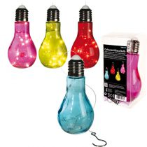 SUSPENSION AMPOULE EN VERRE 10 LEDS 18 CM