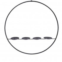 SUSPENSION BOUGEOIR ROND MÉTAL 60CM
