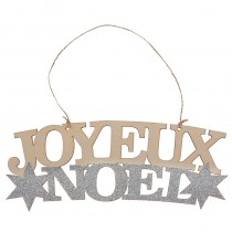 SUSPENSION JOYEUX NOËL 26X9,5CM