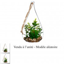SUSPENSION PLANTES ARTIFICIELLES GOUTTE 19.5CM