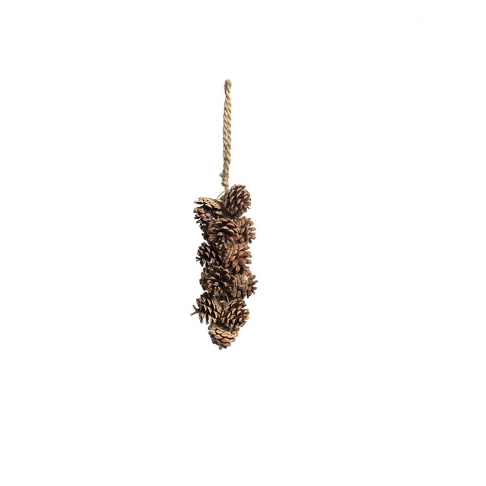 SUSPENSION POMMES DE PIN 55CM NATURE