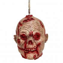 SUSPENSION TÊTE ZOMBIE TERRIFIANTE 20 CM