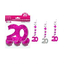 SUSPENSIONS ACCORDEONS 20 ANS ROSES