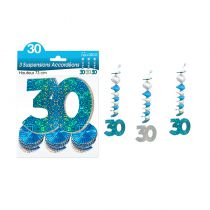 SUSPENSIONS ACCORDEONS 30 ANS HOLO. BLEU