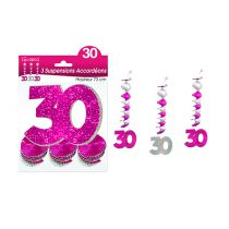 SUSPENSIONS ACCORDEONS 30 ANS HOLO. ROSE