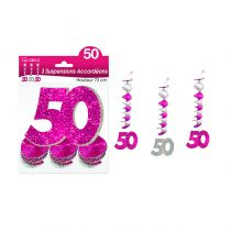 SUSPENSIONS ACCORDEONS 50 ANS HOLOGRAMME