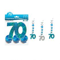 SUSPENSIONS ACCORDEONS 70 ANS HOLO. BLEU