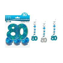 SUSPENSIONS ACCORDEONS 80 ANS HOLO. BLEU