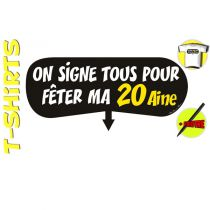 T-SHIRT+ STYLO ON SIGNE 20AINE