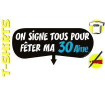 T-SHIRT+ STYLO ON SIGNE 30AINE