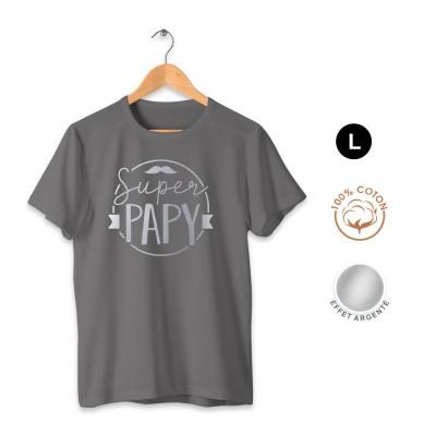 T-SHIRT COTON SUPER PAPY ADULTE