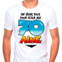 T SHIRT+STYLO  70 ANS