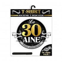 TEE SHIRT ANNIVERSAIRE HOMME - 30AINE