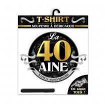 TEE SHIRT ANNIVERSAIRE HOMME - 40AINE