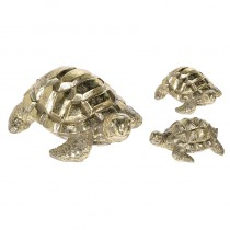 TORTUES DORÉES 11X8,5X5,5CM 3 ASS