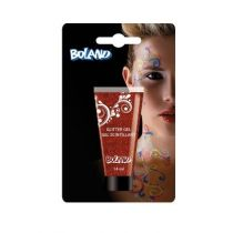 Tube gel scintillant rouge