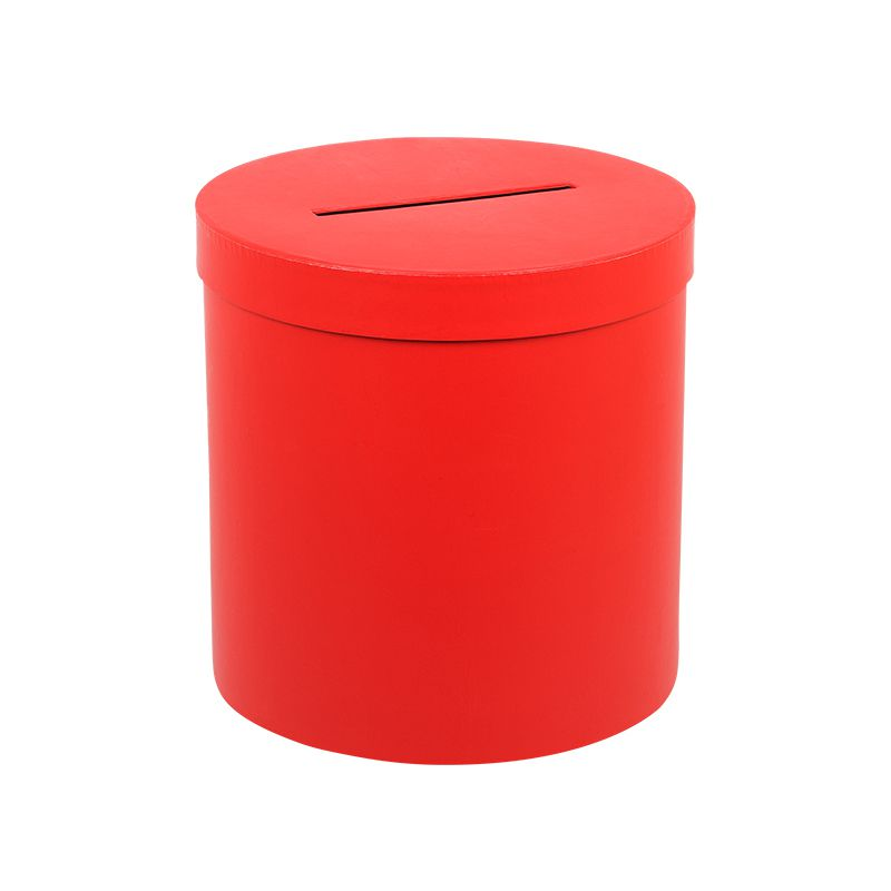 URNE RONDE ROUGE HAUTE TAILLE L
