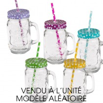VERRE CHOPE + COUVERCLE 450ML PROMO