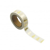 WASHI TAPE BLANC ANANAS OR 15MMX10M