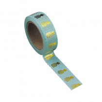 WASHI TAPE CÉLADON ANANAS OR 15MMX10M
