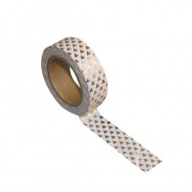 WASHI TAPE GOLD GEOMETRY 15MMX10M