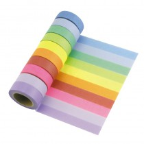 WASHI TAPE MULTICOLORE X10 15MMX10M