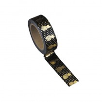 WASHI TAPE NOIR ANANAS OR 15MMX10M