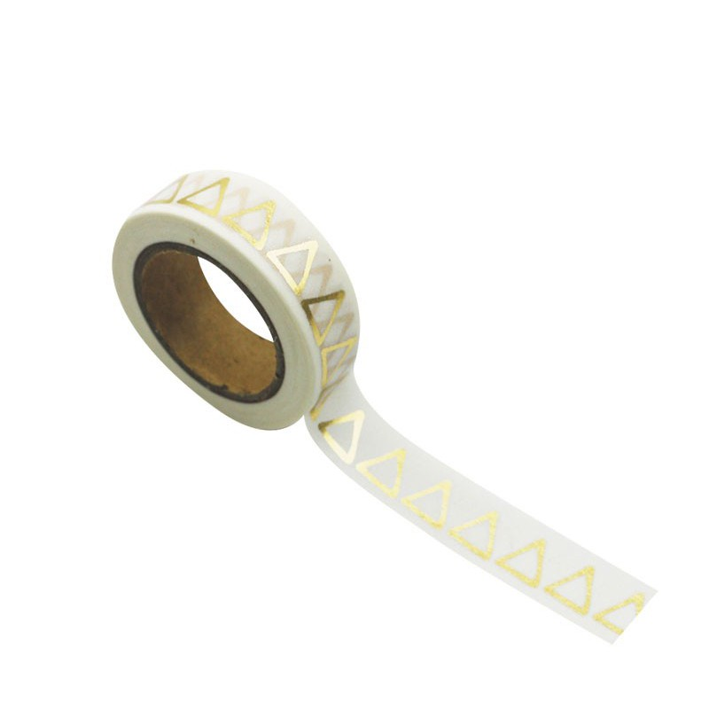 WASHI TAPE TRIANGLE D'OR 15MMX10M